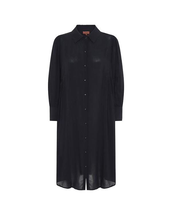 HunKøn - Alberte Shirtdress - Black - Front