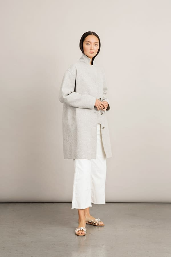Stylein - Tessa Coat - Light Grey - Front